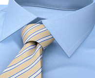 Men shirt clothing with tie isolated on white Stock Image