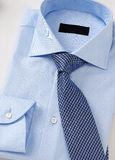 Men shirt clothing with tie on white Royalty Free Stock Images