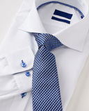 Men shirt clothing with tie on white Royalty Free Stock Photography