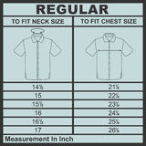 Men shirt diagram size Royalty Free Stock Image