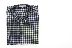 Men shirt. Fot clothes isolated on white background Royalty Free Stock Photography