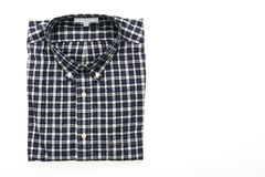 Men shirt. Fot clothes isolated on white background Royalty Free Stock Photo