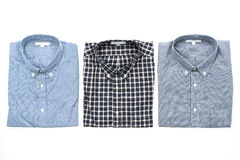 Men shirt. Fot clothes isolated on white background Royalty Free Stock Photos