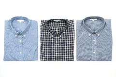 Men shirt. Fot clothes isolated on white background Stock Images