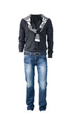 Men  shirt,  jacket and jeans Stock Image
