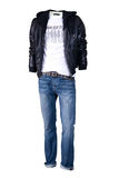 Men  shirt,  jacket and jeans Stock Photography
