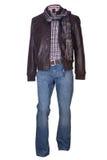 Men  shirt,  jacket and jeans Stock Photos