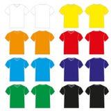 Men Shirt. A set of colorful Tshirt for men Stock Images