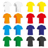 Men Shirt. A set of colorful Tshirt for men Royalty Free Stock Image