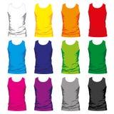 Men Shirt. Set of colorful Tshirt tanks for men Royalty Free Stock Photos