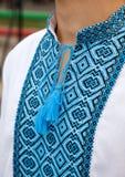 Men shirt. Men white shirt embroidery. Ukraine Royalty Free Stock Photo
