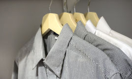Men Shirts On Hanger Royalty Free Stock Photos