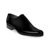 Men shoe. Picture of black men shoe on white background, vector eps10 illustration Royalty Free Stock Photo