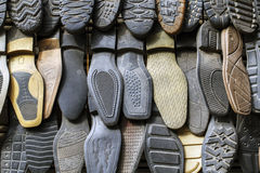 Men Shoes insole in shop. Royalty Free Stock Photography