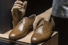 Men shoes royalty free stock photography