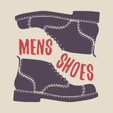 Men shoes pair. Leather footwear. Stock Photo