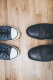 Men shoes and sneakers Royalty Free Stock Images