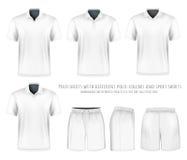 Men short sleeve polo shirt and sport shorts. Royalty Free Stock Photography