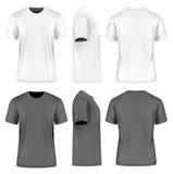 Men short sleeve round neck t-shirt Stock Photos