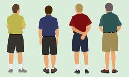 Men in Shorts Stock Photo