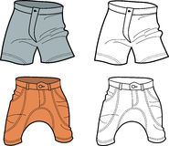 Men shorts (front view) Stock Images