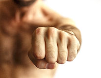 Men showing fist Royalty Free Stock Images