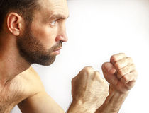 Men showing fists Royalty Free Stock Photo