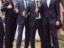 Men Showing Thumb up Royalty Free Stock Photos