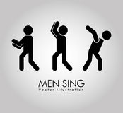 Men sign design. Illustration eps10 graphic Royalty Free Stock Photography