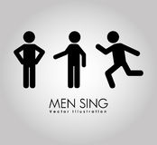 Men sign design. Illustration eps10 graphic Royalty Free Stock Image