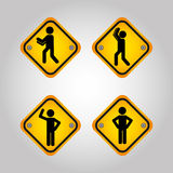 Men sign design. Illustration eps10 graphic Royalty Free Stock Photo