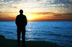 Men silhouette Royalty Free Stock Image