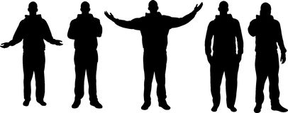 Men silhouettes Royalty Free Stock Photography