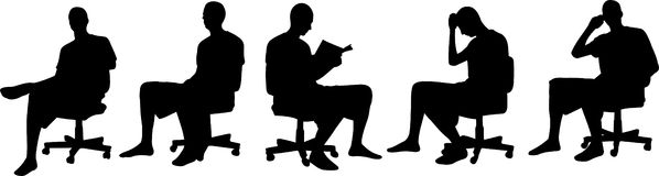 Men silhouettes Stock Image