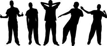 Men silhouettes Royalty Free Stock Photos
