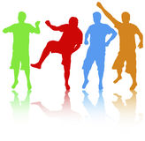 Men silhouettes group Stock Image