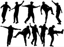 Men silhouettes Stock Image