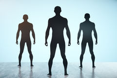 Men silhouettes Royalty Free Stock Image