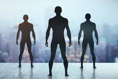 Men silhouettes Royalty Free Stock Photos