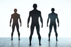 Men silhouettes Stock Photo