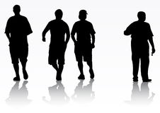 Men silhouettes Royalty Free Stock Images