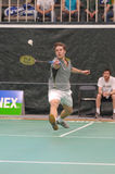 Men singles badminton royalty free stock photo