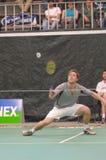 Men singles badminton Stock Photography