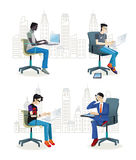 Men Sitting in  the Office2 Royalty Free Stock Photography