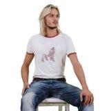 men sitting young Στοκ Εικόνα