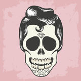 Men skull with hair Royalty Free Stock Photos