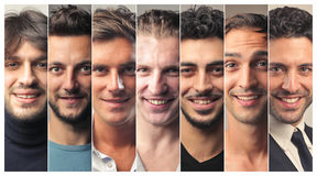 Men smiling. Portrait of group of men smiling Stock Images