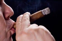 Men smoking cigar Royalty Free Stock Photos