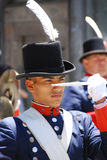 Men in soldier costume Royalty Free Stock Images