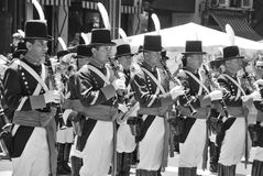 Men in soldier costume Stock Photos